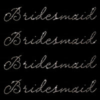 Set of 4 Bridesmaid Iron On Rhinestone Transfers