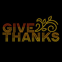Give Thanks Ombre Iron On Rhinestud Transfer