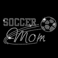 Soccer Mom Iron On Rhinestone Transfer