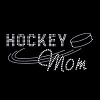 Hockey Mom Iron On Rhinestone Transfer