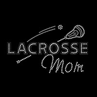 Lacrosse Mom Iron On Rhinestone Transfer