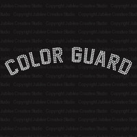 Color Guard Iron On Rhinestone Transfer