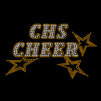 Custom Cheer Stars Iron On Rhinestone Transfer
