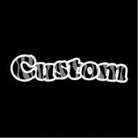 Custom Zebra Text Iron On Rhinestone Transfer