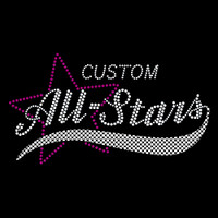 Custom All-Stars Iron On Rhinestone Transfer
