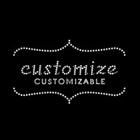 Custom Chic Iron On Rhinestone Transfer