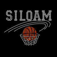 Custom Basketball Iron On Rhinestone Transfer