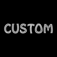 Custom Name or Word with Clear Funky Style Letters