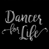 Dancer for Life Iron On Rhinestone Transfer