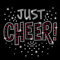 Just Cheer Iron On Rhinestone Transfer