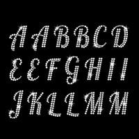 Monogram Alphabet Iron On Rhinestone Transfer
