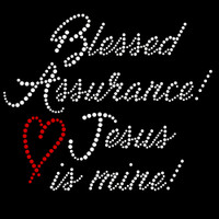 Blessed Assurance Iron On Rhinestone Transfer