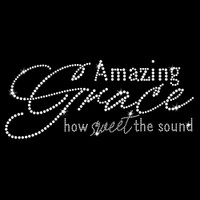 Amazing Grace Iron On Rhinestone Transfer