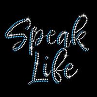 Speak Life Iron On Rhinestone Transfer