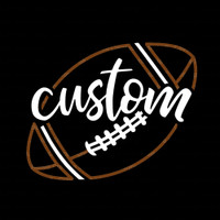 Custom Script Football Iron On Rhinestone and Rhinestud Transfer
