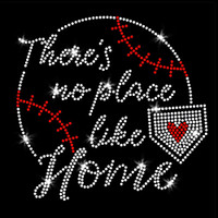 There's No Place Like Home Iron On Rhinestone and Rhinestud Transfer