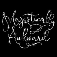 Majestically Awkward Iron On Rhinestone Transfer
