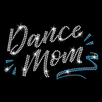 Dance Mom Iron On Rhinestone Transfer