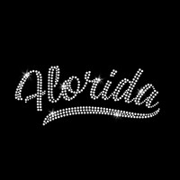 Florida Iron On Rhinestone Transfer