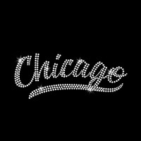 Chicago Iron On Rhinestone Transfer