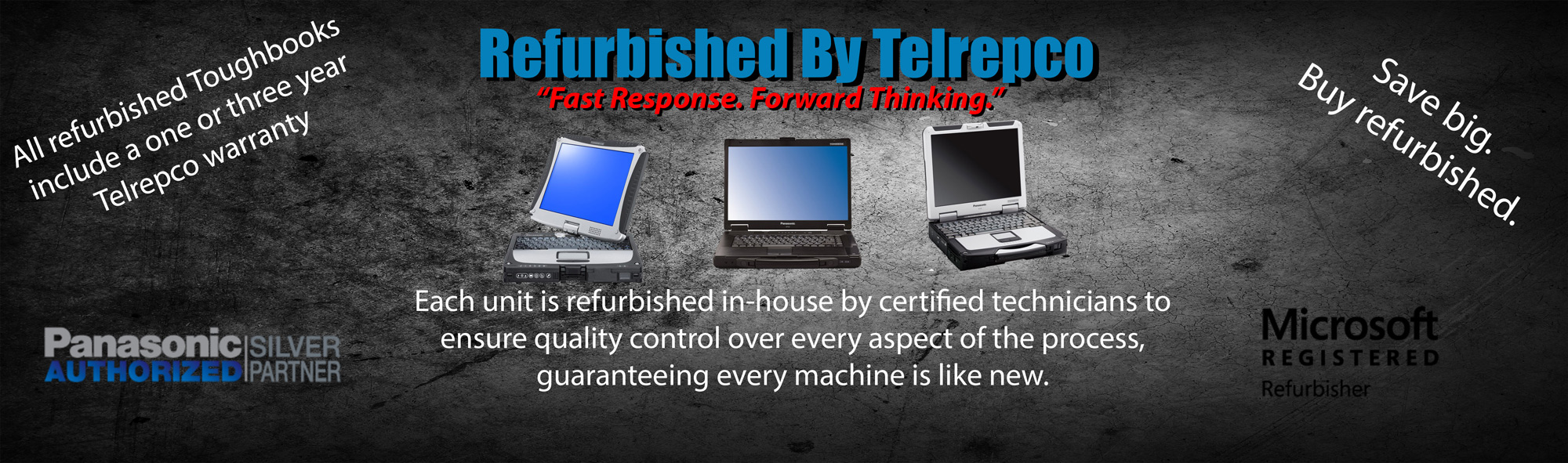 Each Panasonic Toughbook is refurbished in-house by certified technicians to ensure quality control over every aspect of the process, guaranteeing every machine is like new