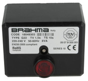 Control unit Brahma G22, TV 1.5s, TS 10s 230 V, 50 Hz, 8 VA, 18049303