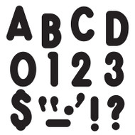 BLACK READY LETTERS 7IN UPPERCASE