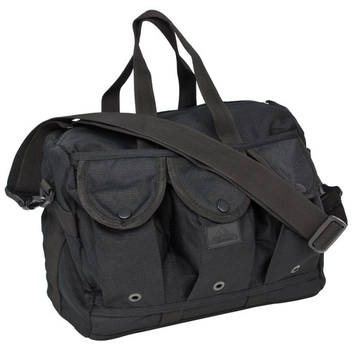 Nylon Shooters Bag - Black