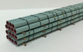 JWD #31800 - 80' Tall Banded Green Pipe Load (N)