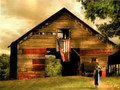 BKG10976 Blank Card - Patriotic Barn