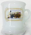 Avon Milk Glass Shaving Mug w/ Steam Train