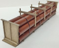 JWD #61401 General Purpose Pipe Load for Athearn 50' Gondolas - Oxide (HO)