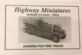 Jordan #221 Ahrens-Fox Fire Truck Kit (HO)