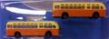 Classic Metal Works #52308 GMC TDH-3610 Transit Bus - Orange/Cream (2-pk) (N)