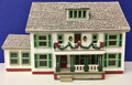 Assembled HO Scale Federal Style House - Christmas Decorations - Lightly Used