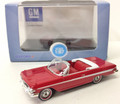 Oxford Diecast #87CI61002 Chevy Impala '61 Convertible - Red/White (HO)