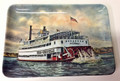 "Vintage Belle of Louisville Steamboat Plastic Trinket Tray - 4"" x 6"""