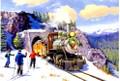 Leanin' Tree #C74902 Alaska RR 4-6-0 Christmas Cards (10pk)