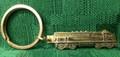 Santa Fe F3 Locomotive Key Ring - Brass Colored