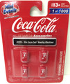 Classic Metal Works #20228 Coca-Cola '50s Vending Machines 4-pc (HO)