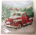 Red Truck Paper Dinner Napkins - Christmas  (40-pk)