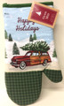Woody Station Wagon w/ Tree Christmas Oven Mitt