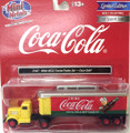 Classic Metal Works #31187 White WC22 Tractor/Trailer - Coca-Cola (HO)