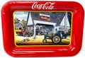 Coca-Cola Metal Trinket Tray - Vintage Cars