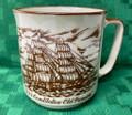 "#M127 ""Old Ironsides - USS Constitution"" Ceramic Coffee Mug - Vintage Japan"
