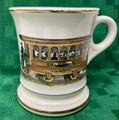 Americana #44/111 Vintage Shaving Mug w/Gold Trim - Horse-drawn Trolley