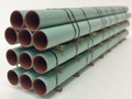 JWD #61680 General Purpose Green Pipe Load for 68' Bulkhead Flatcars (HO)