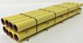JWD #61901 - 40' Yellow Pipe Flat Car Load  (HO)