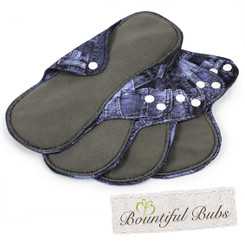 Reusable Cloth Pads, Large, Denim, Bountiful Bubs