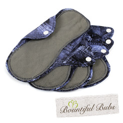 Reusable Cloth Pads, Medium, Denim 4 Pack, Bountiful Bubs